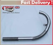 BSA M20 downpipe plain metal, Made in UK