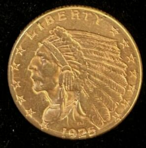 1925-D $2.5 Indian Head Gold Coin.! Uncertified.!