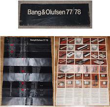 Beng & OLUFSEN 77/78 Lot 2 brochures + 3 schémas Beocord Beomaster BEOGRAM