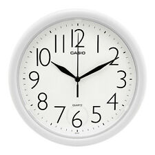 "Casio 10"" Analog Quartz Round White Resin Wall Clock IQ01-7R"
