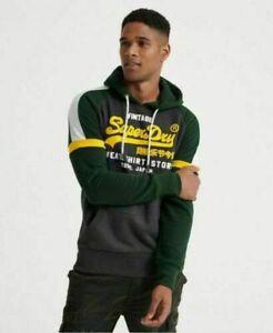 Men's **Superdry** Hooded Sweatshirt Vintage Pullover Jumper Hoodie Tops S-XXL