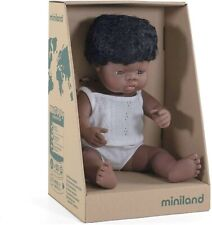 Miniland Educational Baby Doll African Boy 38cm
