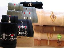 Articles et textiles gants de toilette gris coton pour la salle de bain