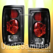 86-93 MAZDA B-SERIES PICKUP BLACK HOUSING CLEAR LENS TAIL LIGHTS PAIR DIRECT FIT