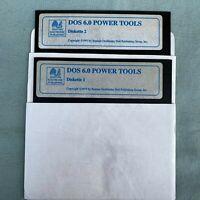 "DOS 6.0 Power Tools 1993 Bantam Book 5.25"" Floppy Disk Lot Floppies Vintage PC"