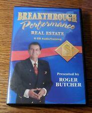 Breakthrough Performance Real Estate Training by Roger Butcher - 6 Audio Cd Set