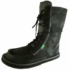 NEW Sanuk Stevie Black Lace up Sidewalk Surfer Yoga Sole Boots Womens Size: 5