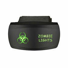 Rocker switch 606SG 12V ZOMBIE LIGHTS Horizontal Laser LED green ON-OFF