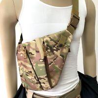 Pinpointer Metal Detector Carrying Bag Flashlight Camo Tactics Pockets Chest Bag