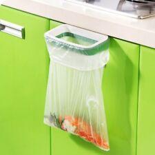 1XPlastic Hanging Bracket Door Trash Holder Kitchen Garbage Bin Bag Storage Rack