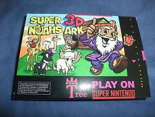 Super Nintendo SNES Game Super 3D Noah's Ark Piko Interactive New Pal Version