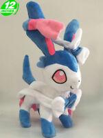 """12"""" Wow Pokemon Sylveon Nymphia Plush Anime Stuffed Toy Game Doll PNPL2158"""