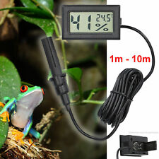 mini Thermometer Hygrometer Thermo-Hygrometer Terrarium Digital mit Fühler 1-10m