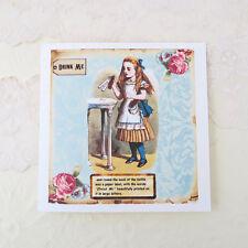 NEW Alice in Wonderland Small Cards -Vintage Drink Me -Set of 2- with envelopes