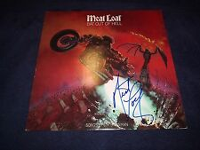 """MEATLOAF SIGNED RECORD ALBUM TITLED """"BAT OUT OF HELL"""" WOW CLASSIC! RARE PROOF!"""