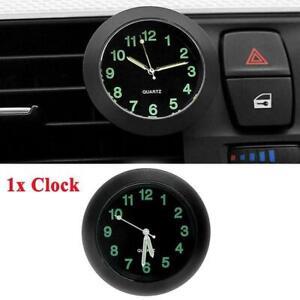 Car Air Vent Clip Mini Clock Luminous Dashboard Auto Interior Quartz Watch Gift