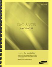 Samsung DVD-VR375 DVD & VCR Recorder OWNER'S USER MANUAL