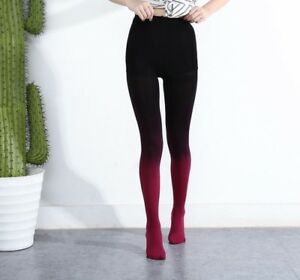 Women Tights 120D Candy Color Stockings Velvet Gradient Opaque Pantyhose Hosiery
