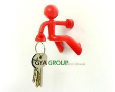 Key pate, The magnetic man Key holder, by Peleg Design Red color