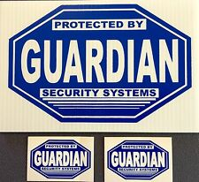 1 SECURITY SIGN - Guardian Security - PLUS 2 FREE Decals #PS-412