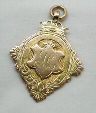 1897 Victorian 9 Carat Gold Football Medal Fob