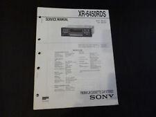 Original Service Manual Sony XR-6450RDS