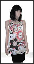 Fashion Express Womens Sleeveless Floral Print Tunic Top size UK 8  EUR 36
