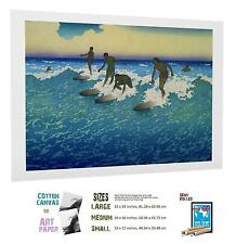 SPORT POSTER BIG WAVE SPORT SURFING