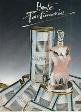 Publicité Advertising  1993  Parfum JEAN PAUL GAULTIER haute parfumerie