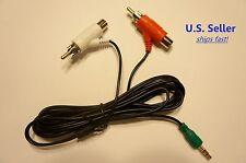 Replacement Audio Splitter Cable for Turtle Beach Headsets: 3.5mm (Male) to RCA