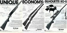 1978 Stevens Savage 410 & Model 110-S 311 94-C Rifle Shotgun 3 Different Ads