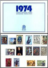 Iceland Island Stamps Official Year Set 1974 MNH