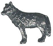 4 wholesale lead free pewter wolf figurines F6017