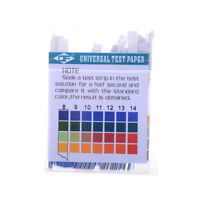 100Strips 1-14 Ph Alcalin Papier Indicateur Acide Eau Litmus Test Salivaire Q9F