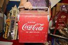 """Rare Vintage 1950's Coca Cola Acton Junior Soda Pop 14"""" Picnic Cooler Metal Sign"""