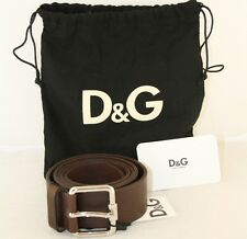 LUXUS DOLCE AND GABBANA GUERTEL DG BELT BRAUN NEU NEW 105