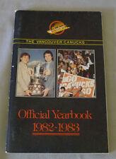 Original NHL Vancouver Canucks 1982-83 Official Hockey Media Guide