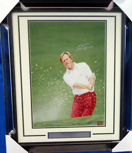 JACK NICKLAUS AUTHENTIC AUTOGRAPHED SIGNED FRAMED 16X20 PHOTO STEINER 155028