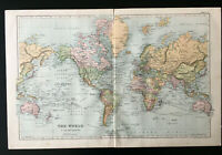 Antique Map Of The World 1904
