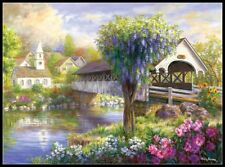 Flowers by the Lak - Counted Cross Stitch Patterns Needlework for embroidery
