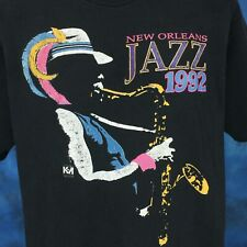 New listing vintage 90s New Orleans Jazz Concert Mardi Gras T-Shirt Xl/Xxl louisiana party