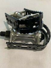 * VP Victor 450 1/2 pedal set old school bmx Vintage  BLACK  aluminium NOS