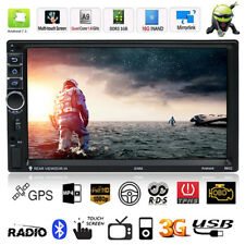 "Quad Core Android 7.1 3G 7"" Double 2DIN Car GPS BT Stereo Radio Video MP5 MP3 FM"