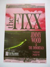 FIXX/Jimmie Wood F96 FILLMORE POSTER Bouman
