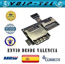 SAMSUNG GALAXY S4 MINI I9195 I9190 FLEX LECTOR DE TARJETA SIM Y MICRO SD MEMORIA