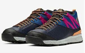 NEW Nike ACG Okwahn II 525367-400 Men Size 7.5 Obsidian/Fuel Orange-Indigo Force