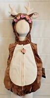 Baby Deer Fawn Bambi Boutique Costume Infant Toddler Soft Antlers Doe Animal NEW