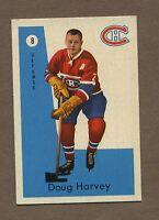 1959-60 Parkhurst Hockey #8 Canadiens Doug Harvey Ex-Mt