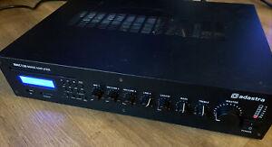 Adastra RMC120 5 Channel 100V Line Mixer Amplifier CD/USB/SD/FM XLR Mic Input