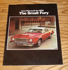 Original 1975 Plymouth Fury Sales Brochure 75